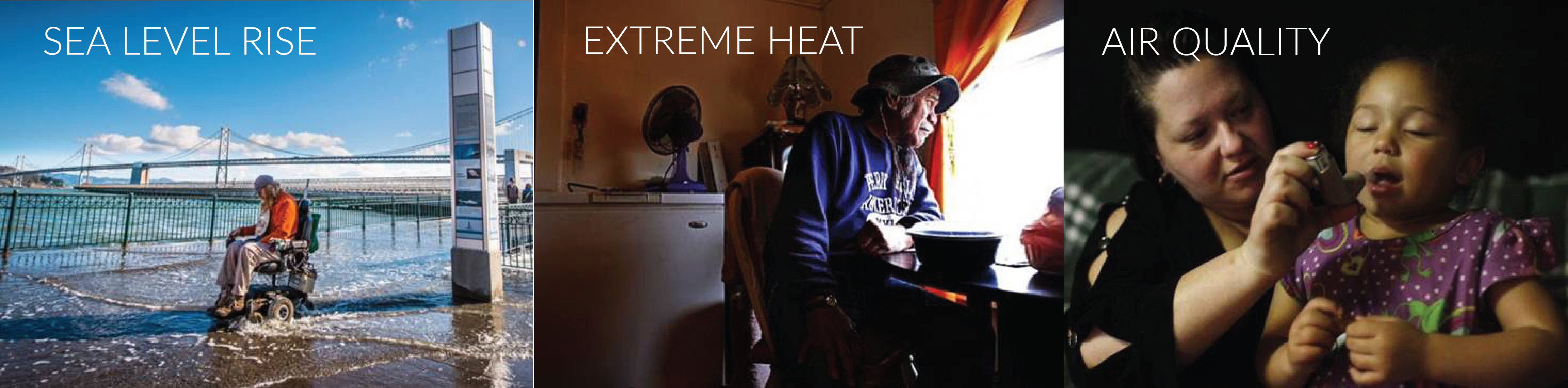 Elderly man indoors during an extreme heat event